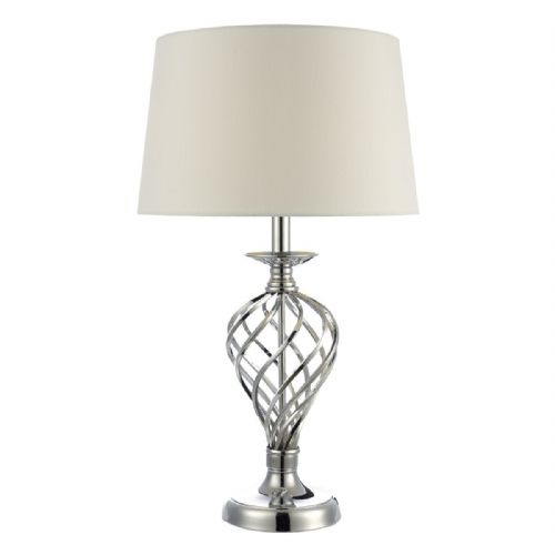 Iffley Large Table Lamp Polished Chrome + Ivory Shade Touch (Double Insulated) BXIFF4350-17